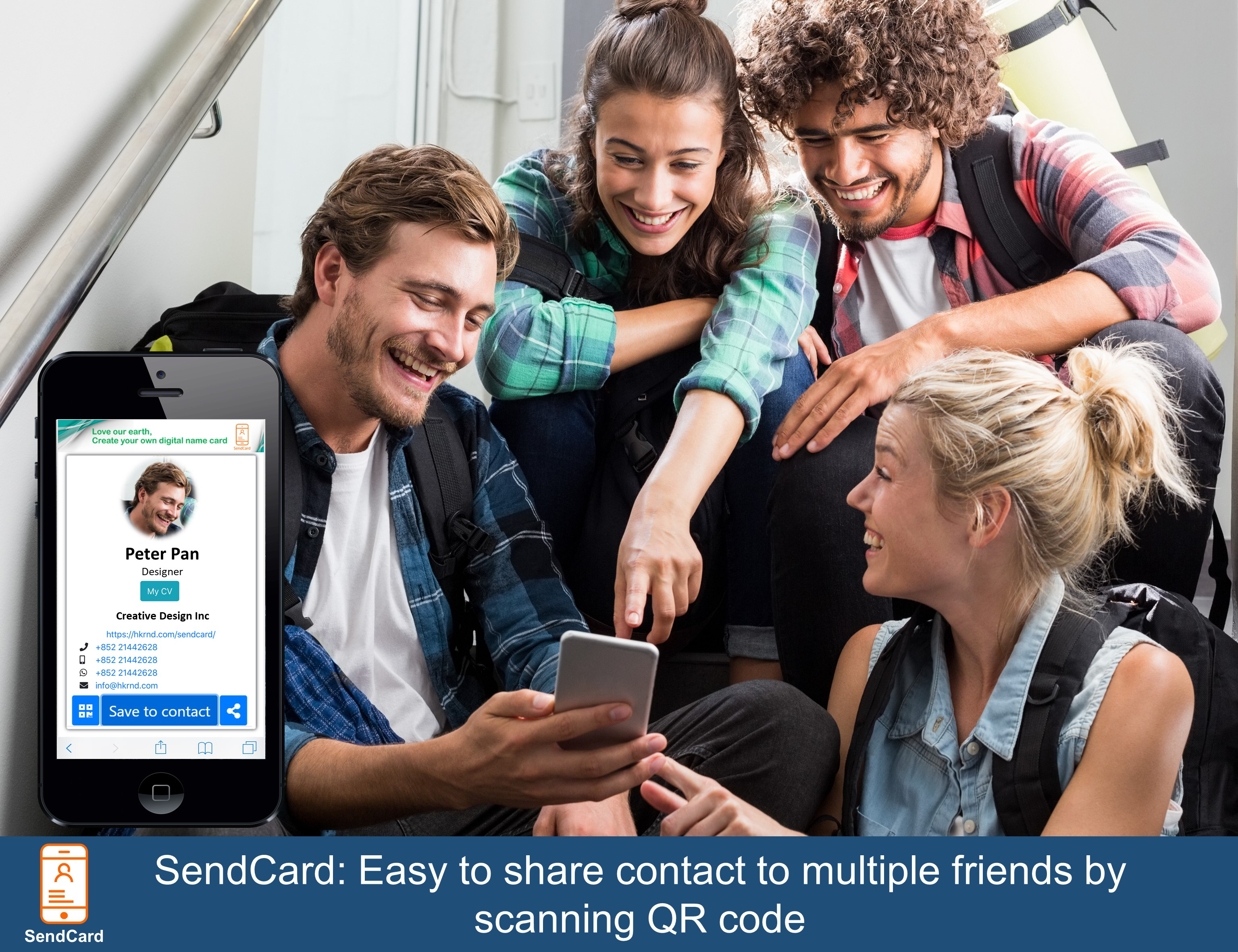 A group of people are amazed by SendCard