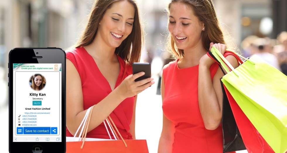 two girl using sendcard