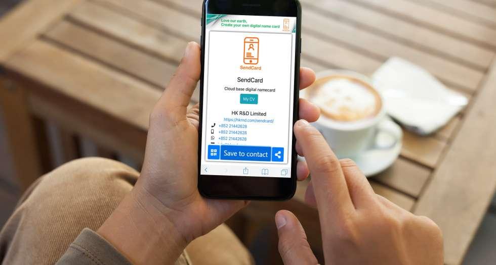 Using SendCard when having coffee